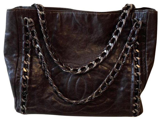 Sacs à main Chanel Chanel Cuir Noir ref.165389