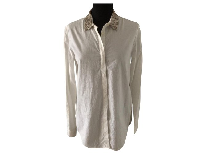 The Kooples Tops Tops Cotton White ref.165397