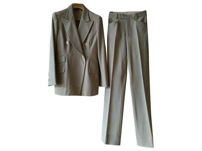 Tailleur pantalon Gucci GUCCI Tailleur avec pantalon Laine Gris ref.165525