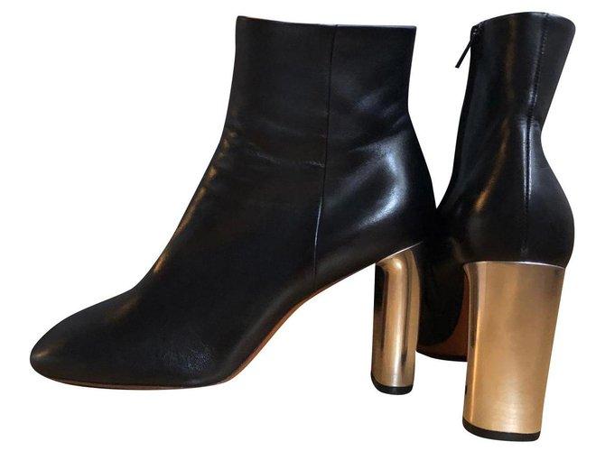 Céline ANKLE BOOTS BAM BAM Phoebe Philo Ankle Boots Lambskin Black ref.165593