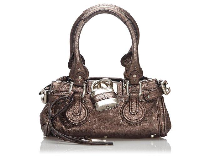 Chloé Chloe Black Leather Paddington Handbag Handbags Leather,Other Black ref.165631