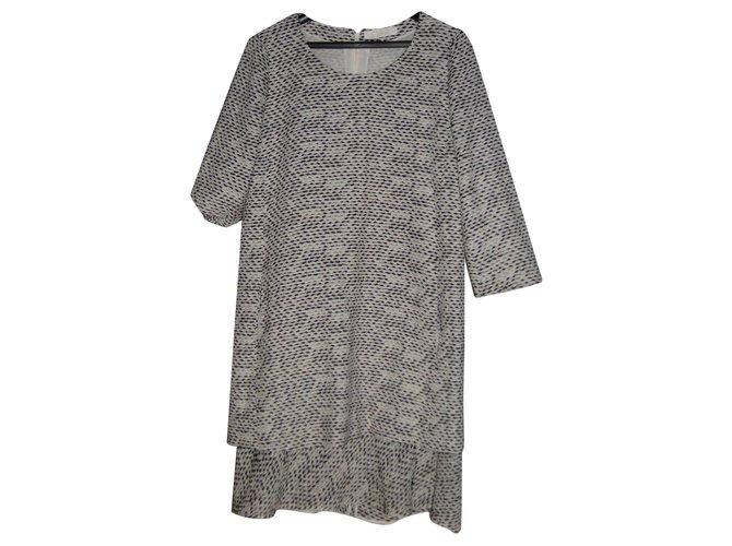 Chloé CHLOE dress size 38 Dresses Silk,Viscose,Polyamide Beige,Grey ref.165731