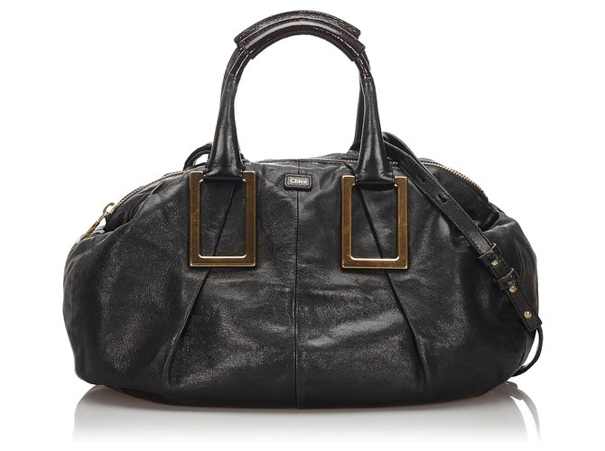 Chloé Chloe Black Leather Ethel Satchel Handbags Leather,Other Black ref.165815