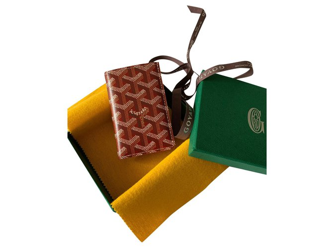 Goyard Goyard card holder Saint Pierre Purses, wallets, cases Leather Red ref.165844