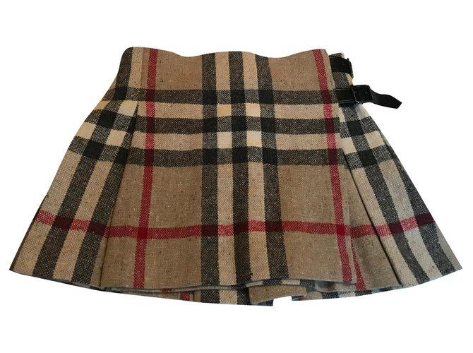 Burberry Skirts Skirts Wool Beige ref.165909