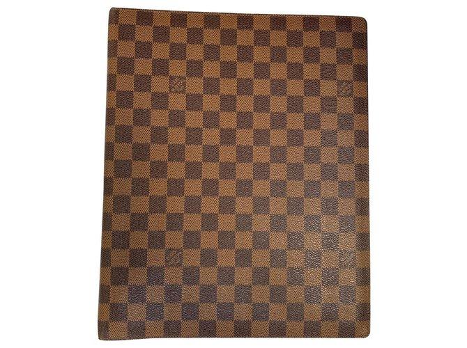 Louis Vuitton Louis Vuitton filing cabinet Misc Leather Chocolate ref.166004