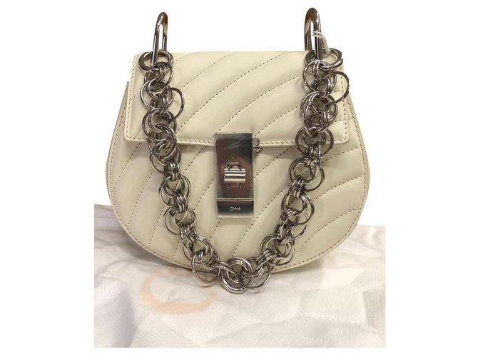 Chloé CHLOÉ Drew Bijou mini shoulder bag Handbags Leather White ref.166037