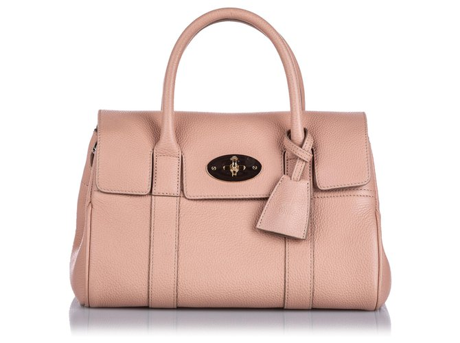 Mulberry Mulberry Pink Small New Bayswater Satchel Handbags Leather,Other Pink ref.166213