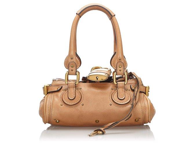 Chloé Chloe Brown Leather Paddington Handbag Handbags Leather,Other Brown ref.166234