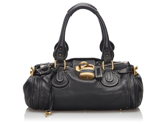 Chloé Chloe Black Leather Paddington Handbag Handbags Leather,Other Black ref.166483