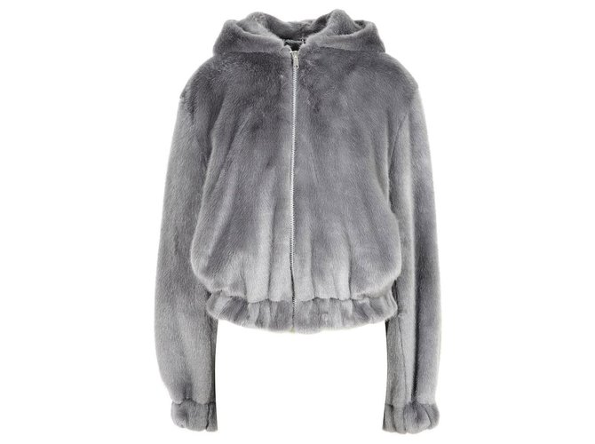 Helmut Lang Coat new Coats, Outerwear Synthetic Grey ref.166624