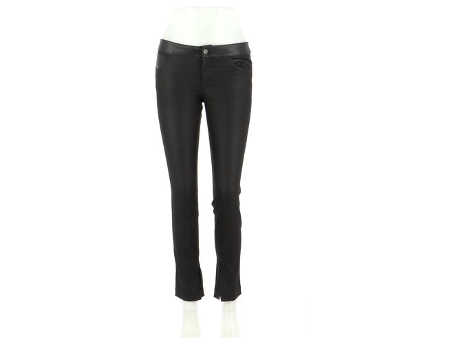 Pantalons Gucci Pantalon Jean Noir ref.166817
