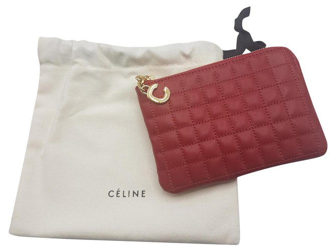 Céline Purses, wallets, cases Purses, wallets, cases Leather Red ref.166832