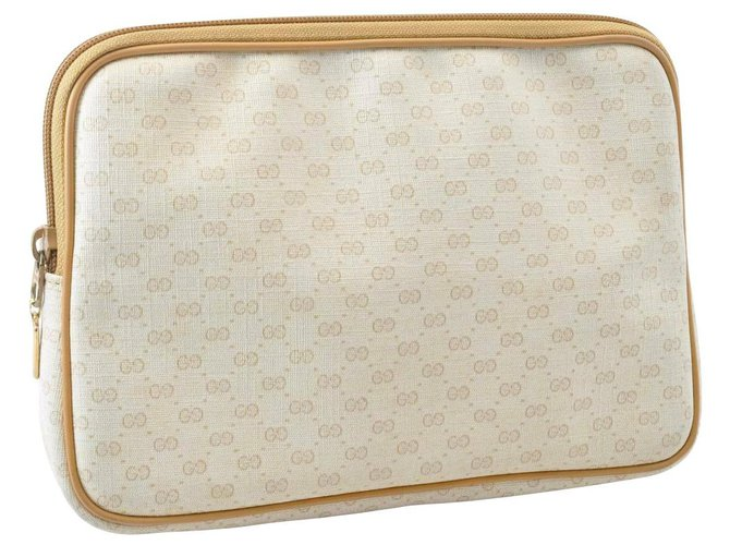 Pochettes Gucci Gucci GG Canvas Hand Pouch Toile Autre ref.166903