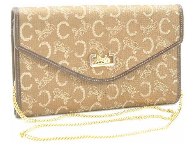 Céline Céline Canvas Chain Purses, wallets, cases Cloth Brown ref.166919