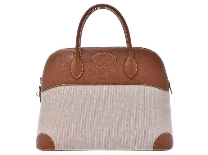 Hermès Hermès Bolide 37 Handbags Leather Golden ref.166922