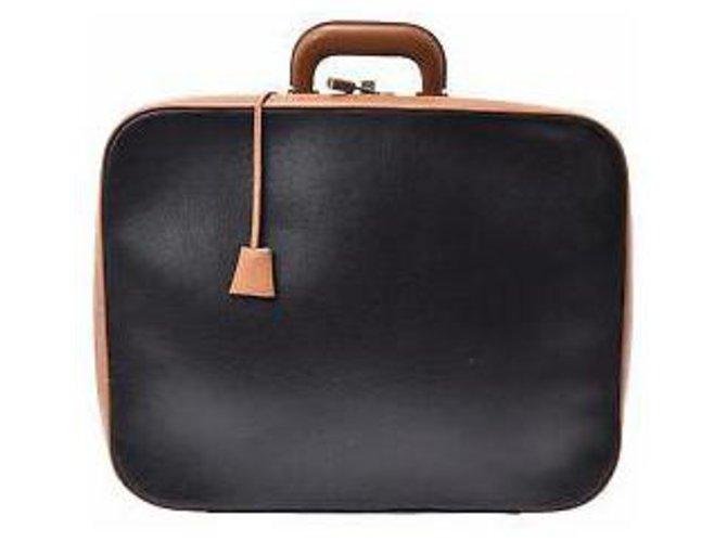 Hermès Hermès Fjord Travel bag Leather Black ref.166929