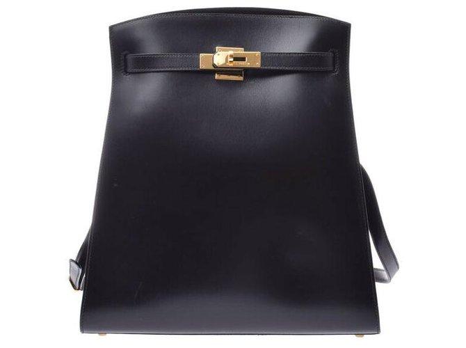 Hermès Hermès Vintage Shoulder Bag Handbags Leather Black ref.166966