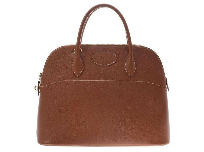 Hermès Hermes Bolide Handbags Leather Brown ref.167005