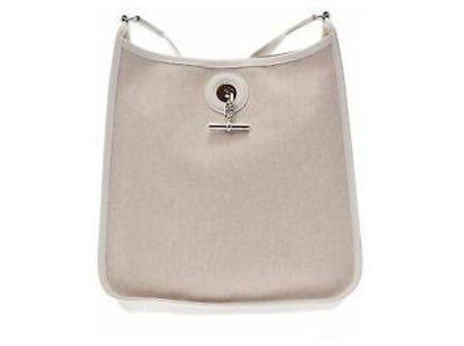 Hermès Hermès Vespa Handbags Cloth White ref.167041