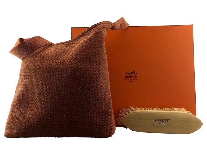 Hermès Hermes sac de pansage Handbags Cloth Orange ref.167043