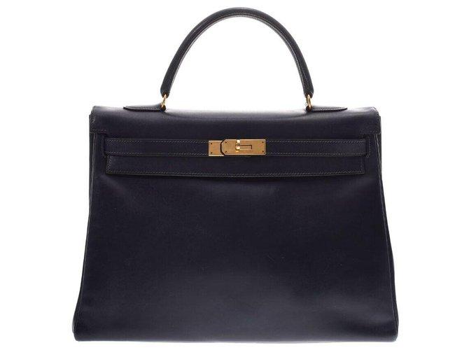Hermès Hermès Vintage Handbag Handbags Leather Black ref.167049