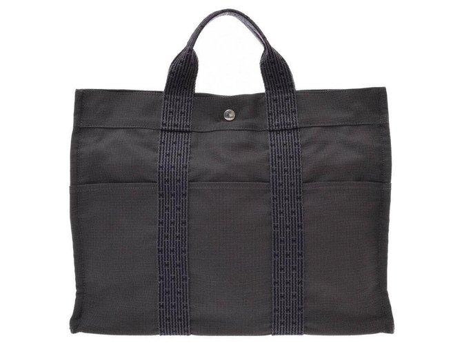 Hermès Hermès Her Line MM Handbags Cloth Grey ref.167052