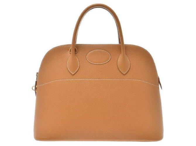 Hermès Hermès Bored 37 Handbags Leather Brown ref.167067