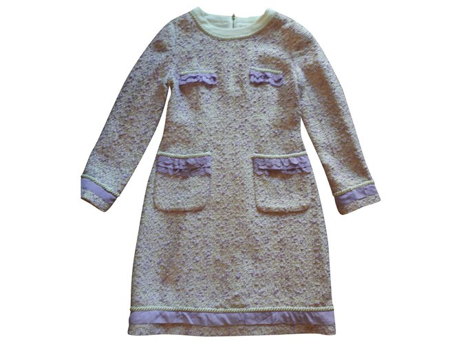 Robes Chanel Robe en tweed Tweed Multicolore ref.167144