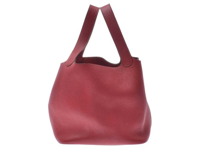 Hermès Hermès Picotin Handbags Leather Red ref.167225