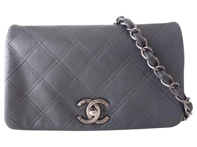 Sacs à main Chanel SAC CHANEL BANDOULIÈRE GRIS Cuir Gris ref.167370