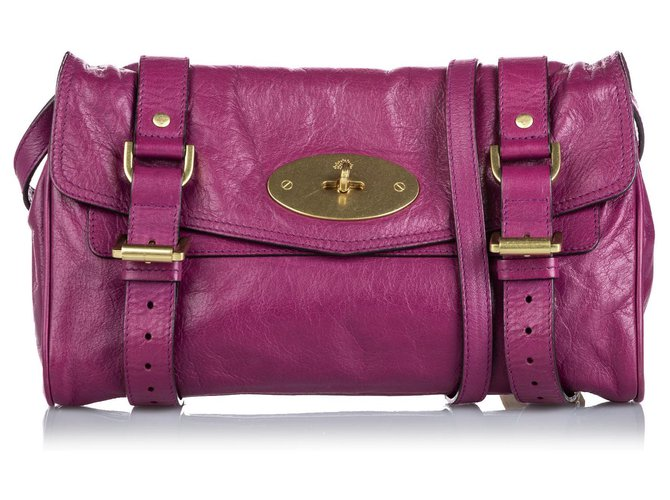 Mulberry Mulberry Purple Leather Alexa Crossbody Bag Handbags Leather,Other Purple ref.167420