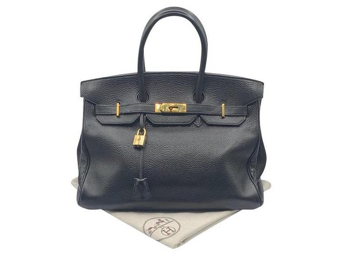 Hermès Birkin Hermes Bag Handbags Leather Black ref.167469