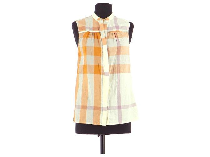 Burberry Shirt Tops Cotton Orange ref.167492