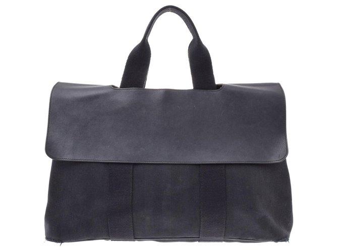 Hermès Hermès Vintage Handbag Handbags Cloth Black ref.167529
