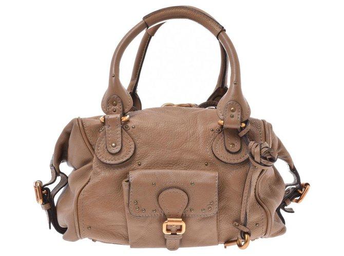 Chloé Chloé Paddington Leather Bag Handbags Leather Brown ref.167534
