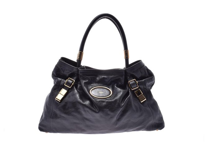 Chloé Chloé Victoria Leather Bag Handbags Leather Black ref.167537