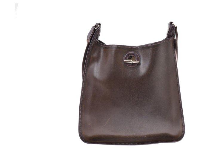 Hermès Hermès Vintage Shoulder Bag Handbags Leather Brown ref.167541