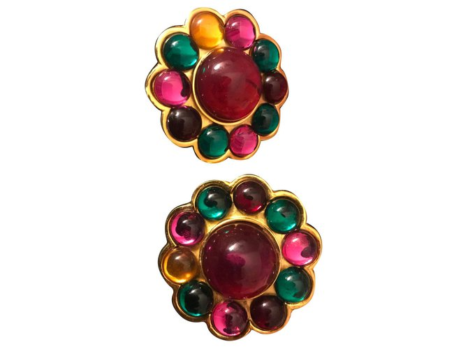 Bracelets Céline Boucles d'oreilles Plaqué or Multicolore ref.167654