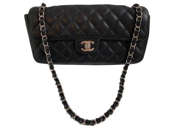 Sacs à main Chanel Chanel Cuir Noir ref.167744