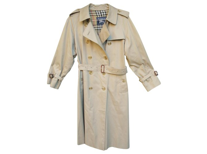 Burberry vintage Burberry women's trench coat 42 Trench coats Cotton,Polyester Beige ref.167750