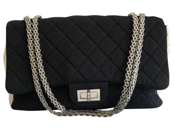 Sacs à main Chanel Sac Chanel 2.55 Tissu Multicolore ref.167774