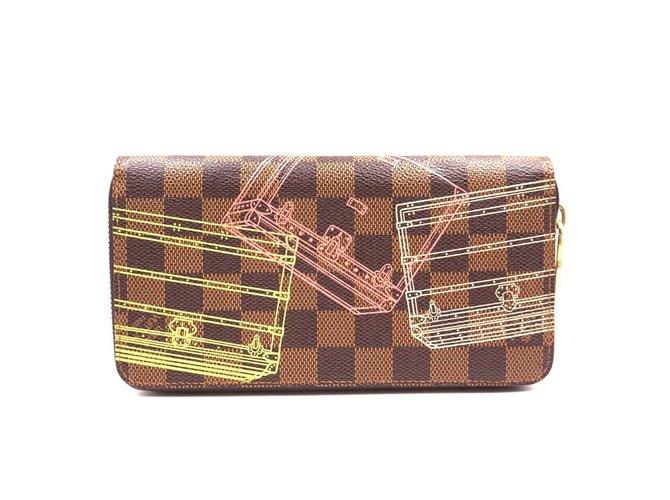 Louis Vuitton Louis Vuitton Damier Ebene Multicolors Zip Around Organizer Long Wallet Purses, wallets, cases Leather Brown ref.168054