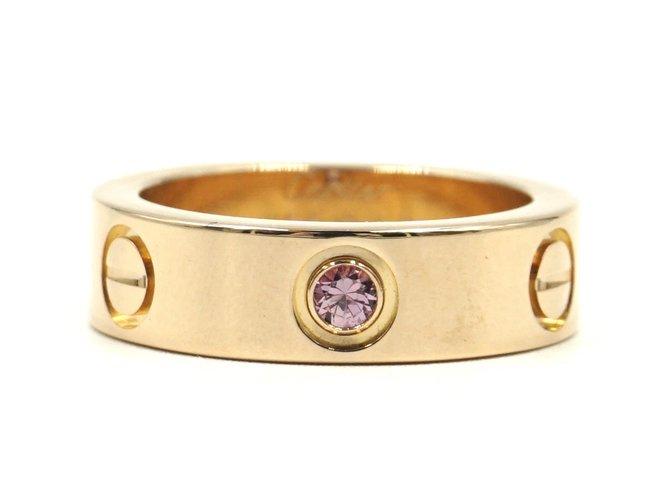 Bagues Cartier cartier 18K 750 saphir 1Taille de bague P Love 50 Or rose Doré ref.168197