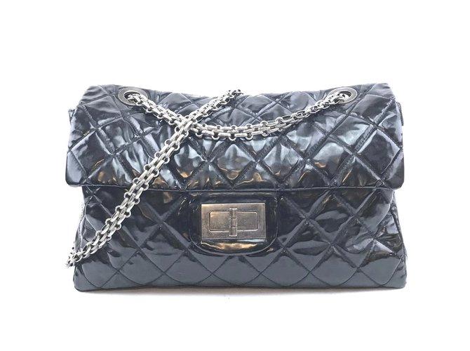 Sacs à main Chanel Chanel 2.55 Réédition Noir Autre Noir ref.168204