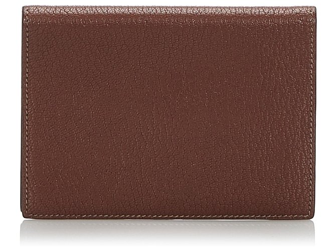 Hermès Hermes Brown Leather Passport Cover Misc Leather,Other Brown ref.168295