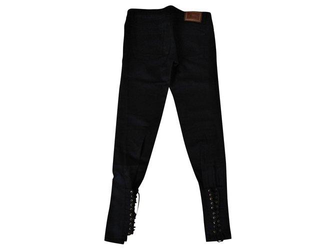 Pantalons Gucci Leggings Autre Noir ref.168326