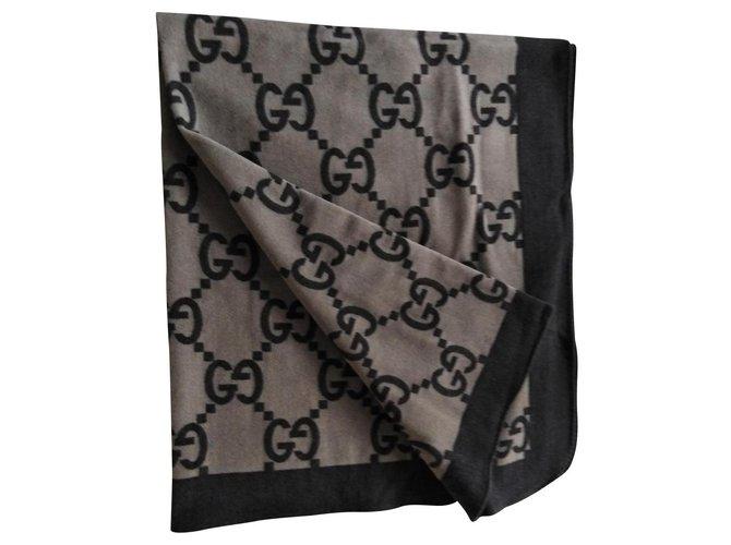 Gucci Blanket blanket Misc Wool Brown,Light brown ref.168329