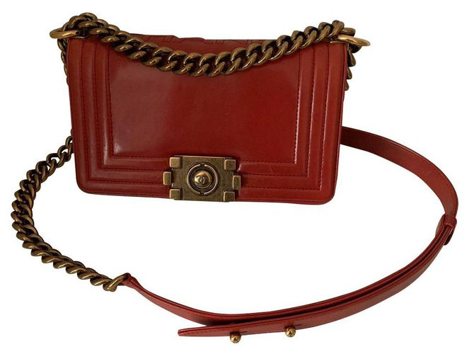 Chanel Chanel Handbags Leather Red ref.168412