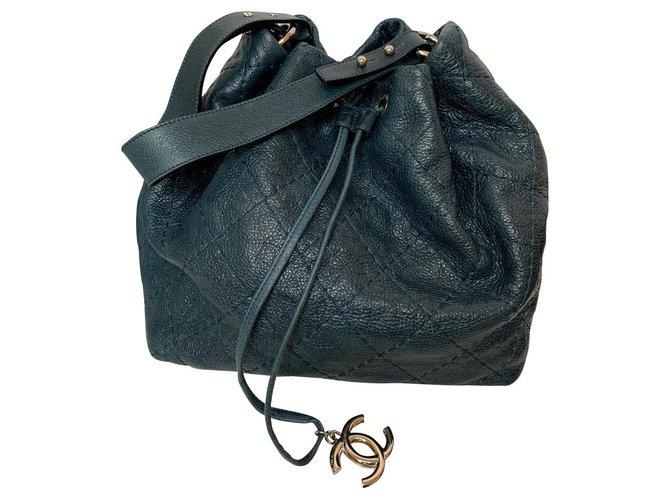 Sacs à main Chanel Chanel Cuir Bleu,Vert ref.168430
